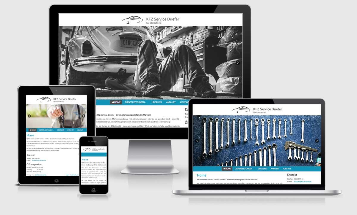 Die neue Website von KFZ Service Driefer