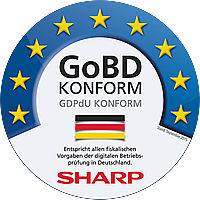 GoBD konforme Sharp Registrierkasse