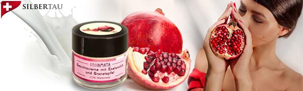 Eselsmilchcreme Granatapfel für ein besseres Hautbild