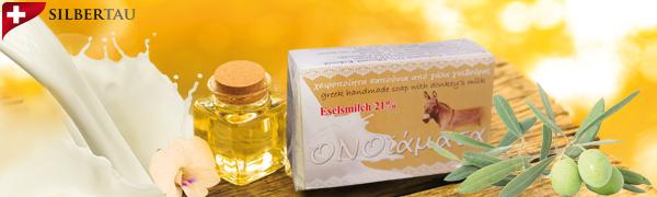 Seife mit 21% Eselsmilch, Handarbeit aus Griechenland, Naturkosmetik 100 g