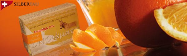 Eselsmilchseife mit Orange zur Aufhellung der Haut