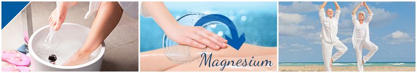Flüssiges Badekonzentrat für ein entspannendes Fussbad mit Magnesiumöl