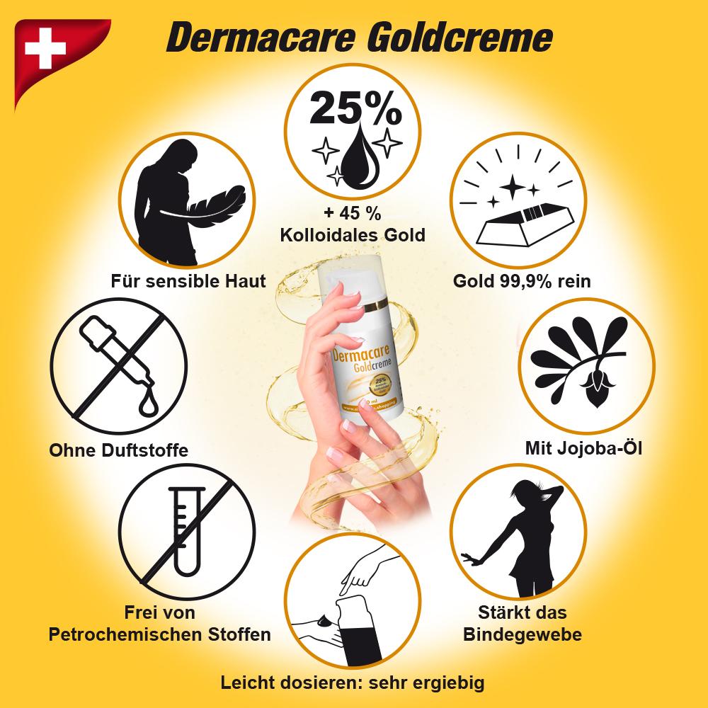 Derrmacare Goldreme 100ml mit 25% kolloidalem Silber