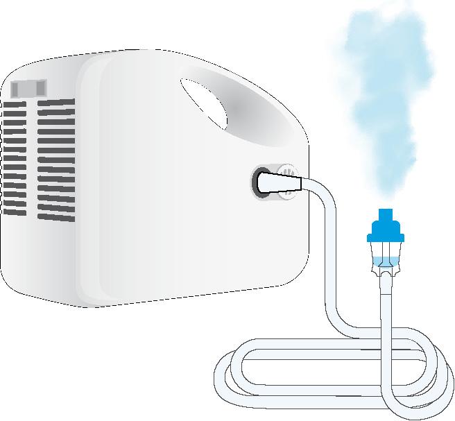 Inhalator Compressor Nebulizer ComNeb69010