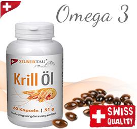 Höchster Anteil an Omega 3, 6 und 9 Fettsäuren im Krill Öl 3x60 Kapseln